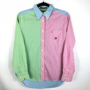 Vintage Tommy Hilfiger Colorblock Button Up Shirt